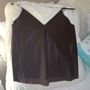 Brown Leather Tank